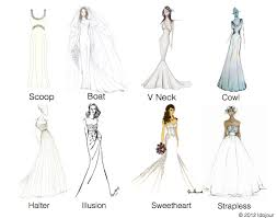 different wedding dress shapes wedding dress necklines idojour different wedding dress styles