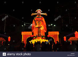 lantern new year the god of wealth at singapore new year lantern festival