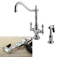 Kitchen Faucet With Side Spray Heritage Chrome Kitchen Faucet With Solid Brass Side Sprayer