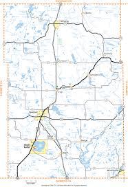 Map Wisconsin Washburn County Wisconsin Map