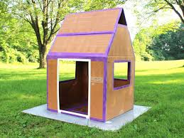 How To Build A Wooden Playset How To Make A Weatherproof Cardboard Box Fort Diy Network Blog