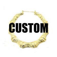 Custom Name Earrings Aliexpress Com Buy Customizable Name Earrings Bamboo Style