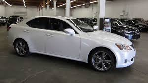 lexus car 2010 2010 lexus is250 pearl white stock 126806 walk around youtube