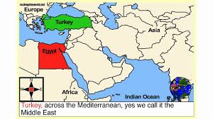 Middle Eastern Map The Middle East Geography Song Youtube