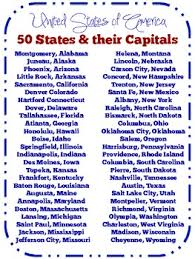 52 states of america list list of 50 united states their capitals freebie god bless