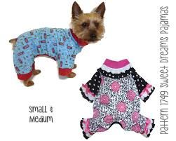 sweet dreams dog pajama pattern 1749 small u0026 medium dog