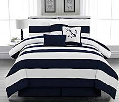 Navy Blue And Gray Bedding Amazon Com Legacy Decor 7pc Microfiber Nautical Themed Comforter