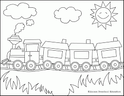 blank train coloring pages coloring home