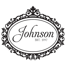 johnson family name design wall quotes decal wallquotes com
