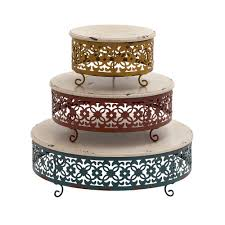 cake stand aluminum colored tier jpg