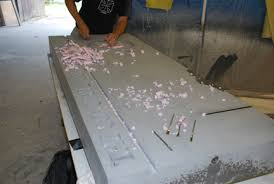 How To Make A Concrete Bench Top Forming Techniques Concrete Countertops Blog