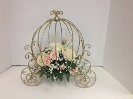 carriage centerpiece carriage centerpieces with and pink roses wedding ideas