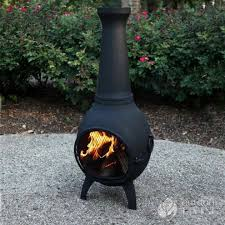 inspirational chiminea clay outdoor fireplace fire pits design ideas