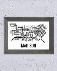 Madison Wisconsin Map by Madison Wisconsin Street Map Print Street Posters