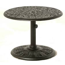 Aluminum Pedestal Hanamint Chateau 30 Inch Umbrella Side Table Patiosusa Com