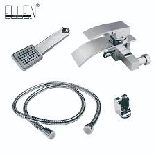 popular bath shower faucet buy cheap bath shower faucet lots from wall mounted waterfall bathtub faucet bath shower faucet solid brass with hand shower china
