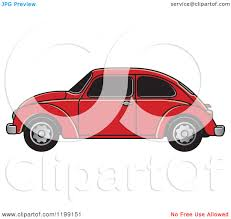 volkswagen beetle clipart clipart of a vintage red vw beetle car with tinted windows