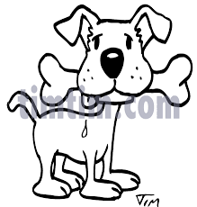 free drawing of a dog bone bw from the category pets timtim com