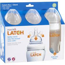 Munchkin Baby Gate Replacement Parts Munchkin Latch 8 Oz Bottle Bpa Free 3 Ct Walmart Com