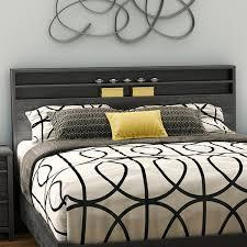 Queen Bed With Shelf Headboard by South Shore Tao Queen Bookcase Headboard U0026 Reviews Wayfair