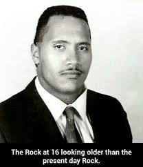 The Rock Meme - the rock at 16 meme xyz