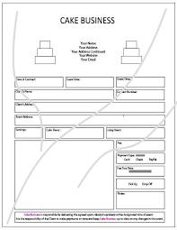 wedding cake order form items similar to cake business order form on etsy