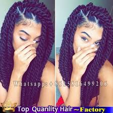 medium size packaged pre twisted hair for crochet braids 24 kanekalon 2x havana mambo twist crochet purple braiding hair
