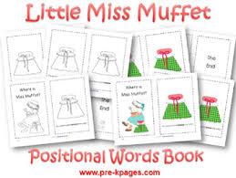 little miss muffet nursery rhyme activities