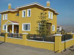 personable colour combination for house exterior painting