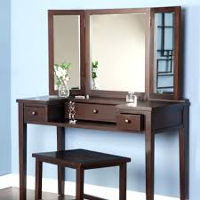 wall dressing table mirrors vinofestdc com wall mounted dressing table mirrors mirror lights bedroom simple vanity dark brown theme designed double sides