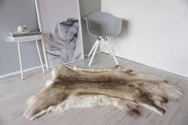 Reindeer Hide Rug Genuine Sheepskin Rug And Reindeer Skin Decoration Milabert