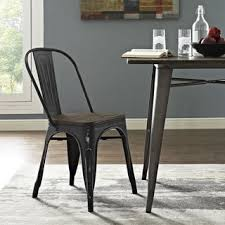 Metal Wood Chair Promenade Metal Wood Seat Dining Chair Free Shipping Today
