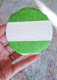 make lace imprinted clay ornaments by goldwyn