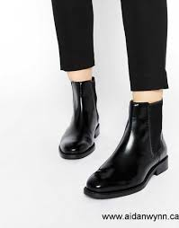womens black ankle boots canada buy now canada asos angelic touch chelsea leather ankle