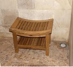 solid teak oval rigid shower seat shower bench seat treenovation