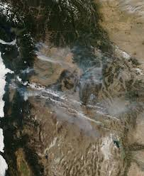 Wildfires Burning In Washington State by Nasa Wildfires In Washington State