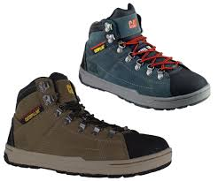 mens caterpillar brode hi s1p safety steel toe cap trainers boots