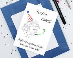 Greetings Card Designer Jobs Funny New Job Card Etsy