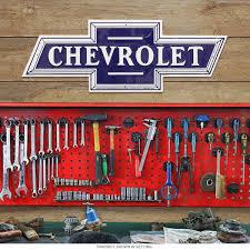 chevrolet bowtie car logo cutout metal sign chevy garage decor