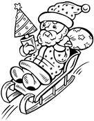 santa claus coloring free printable coloring pages
