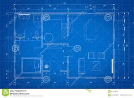 blueprint of architect plan for house construction stock