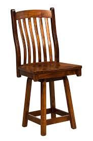 amish made swivel bar stools amish furniture madison