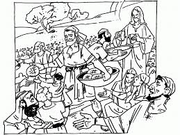 100 ideas jesus feeds many coloring pages on ezcoloringa download