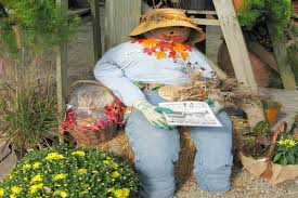 Yard Decorations Fall Yard Decorating Scarecrows Pumpkins And Mums Oh My