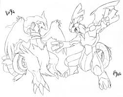 pokemon coloring pages white kyurem pokemon coloring pages black and white zekrom dynamic pokemon black