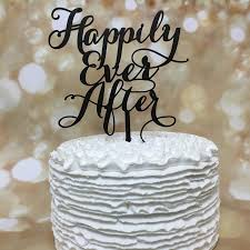Kitchen Tea Cake Ideas Happily Ever After Cake Topper Wedding Cake Topper Engagement
