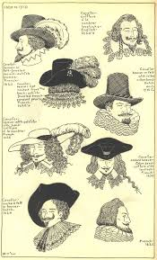 men hairstyles of the 17th century drawings of hats and hairstyles from the 17th century found on