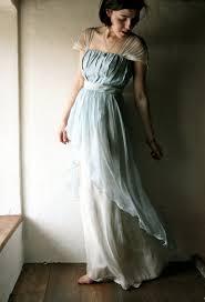 light blue silk dress wedding dress in light blue naturally dyed silk chiffon ready to