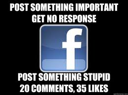 How To Post Memes In Comments On Facebook - post something important get no response post something stupid 20
