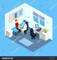 reception pediatrician isometric design doctor woman stock vector